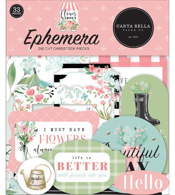 Carta Bella Flower Garden Ephemera
