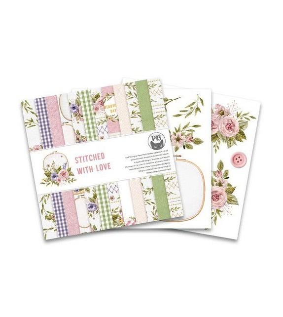 Piatek13 - Paper pad Stitched with love, 6x6