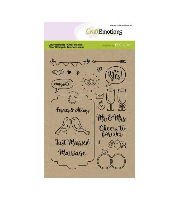 CraftEmotions clearstamps A6 - Wedding