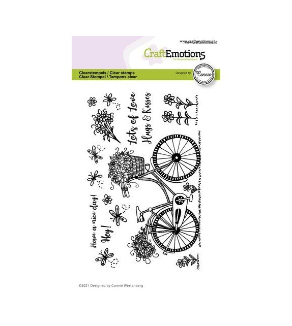 CraftEmotions clearstamps A6 - bicycles