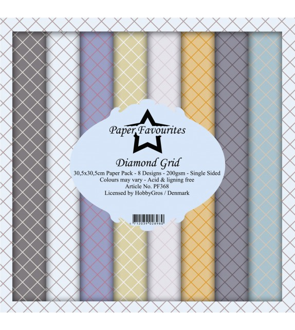 Paper Favourites Diamond Grid 12x12 Inch Paper Pack