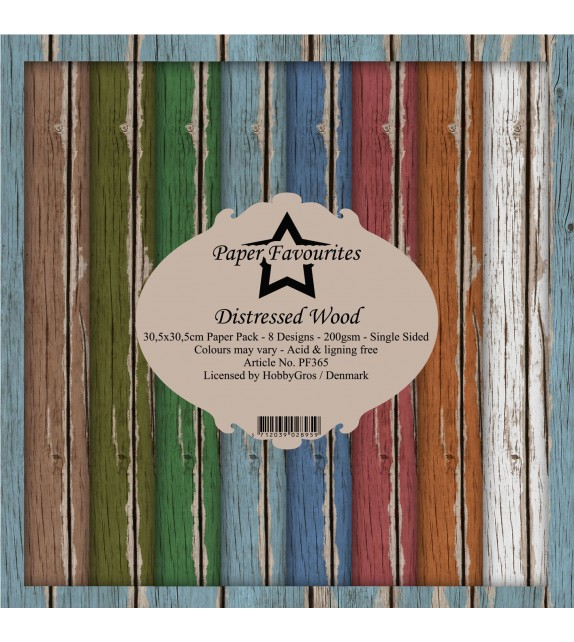 Paper Favourites Distressed Wood 12x12 Inch Paper Pack