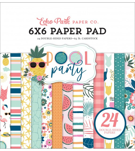 Echo Park Pool Party 6x6 Inch Paper Pad