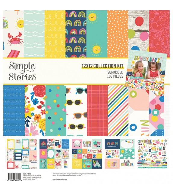 """SUNKISSED COLLECTION KIT 12""""X12"""" SIMPLE STORIES"""