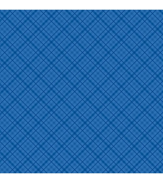 Patterned single-sided dark blue plaid