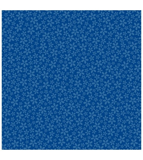 Patterned single-sided dark blue small dot