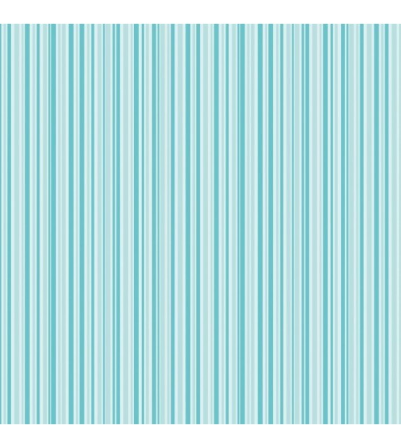 Patterned single-sided  teal stripe