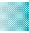 Patterned single-sided teal quatre foil